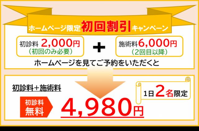 ホームページ割引4980円